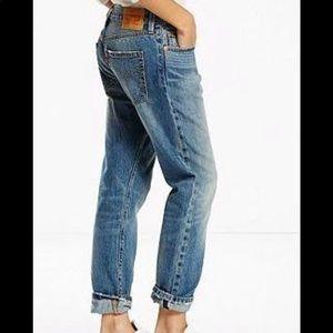 LEVIS 501 REDLINE Selvedge Boyfriend Jeans